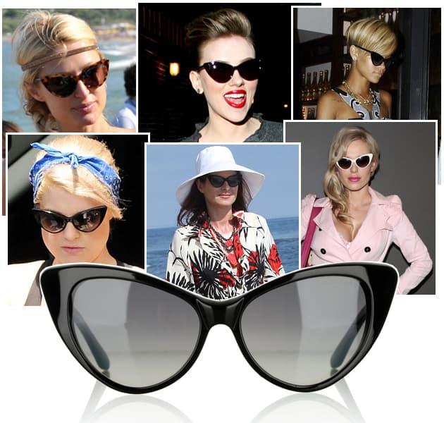 Rihanna, Paris Hilton, Scarlett Johanson, Kelly Osbourne, Debra Messing, Dorota Doda Rabczewska love tom ford nikita sunglasses