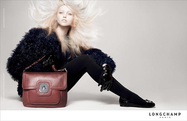 longchamp fall 2010 ad campaign feat sasha pivovarova