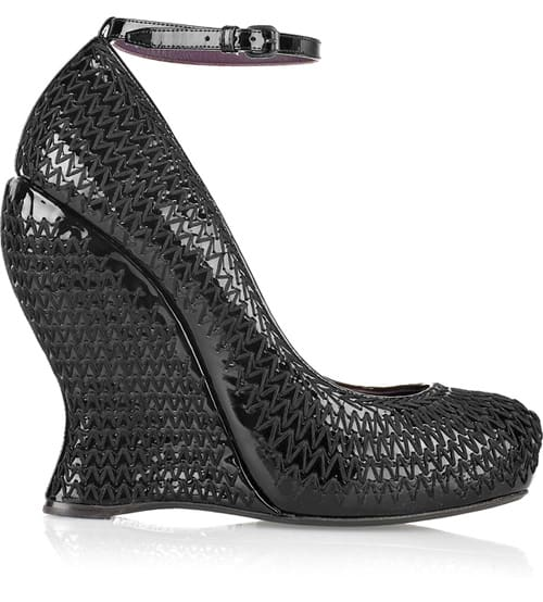 bottega veneta overstitched wedge pumps pre fall collection
