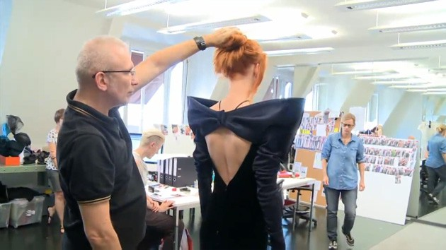 Jean Paul Gaultier Haute Couture Fall 2010 Model Fitting