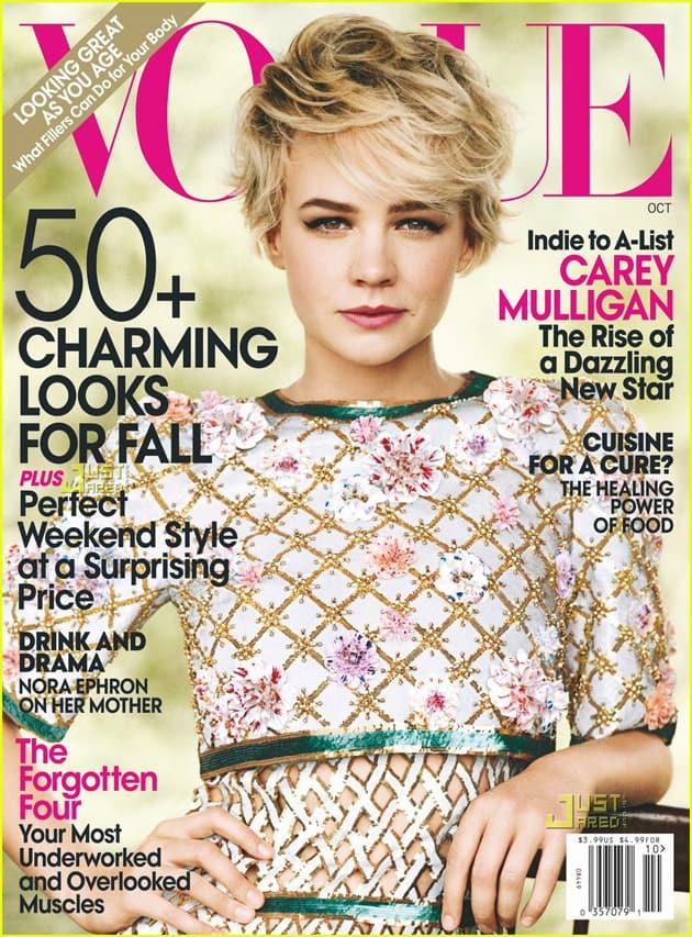Carey Mulligan on Vogue October 2010 Cover