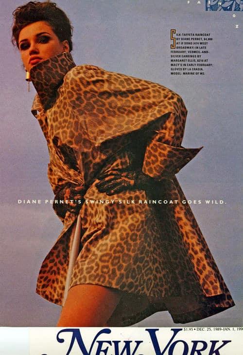 Diane Pernet Leopard Print Silk Raincoat