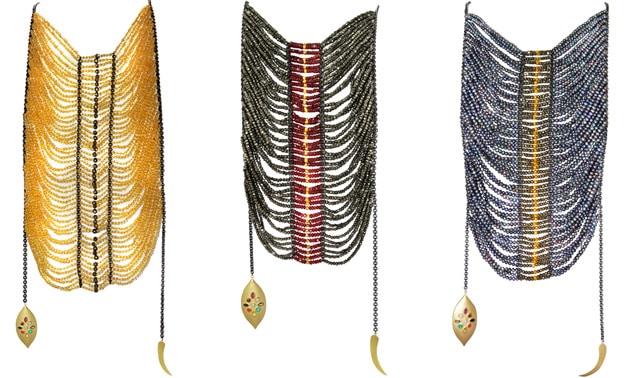Padma Lakshmi Masai Necklace