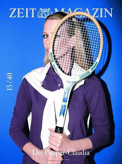 Claudia Schiffer Zeit Magazine Cover 40th Anniversary