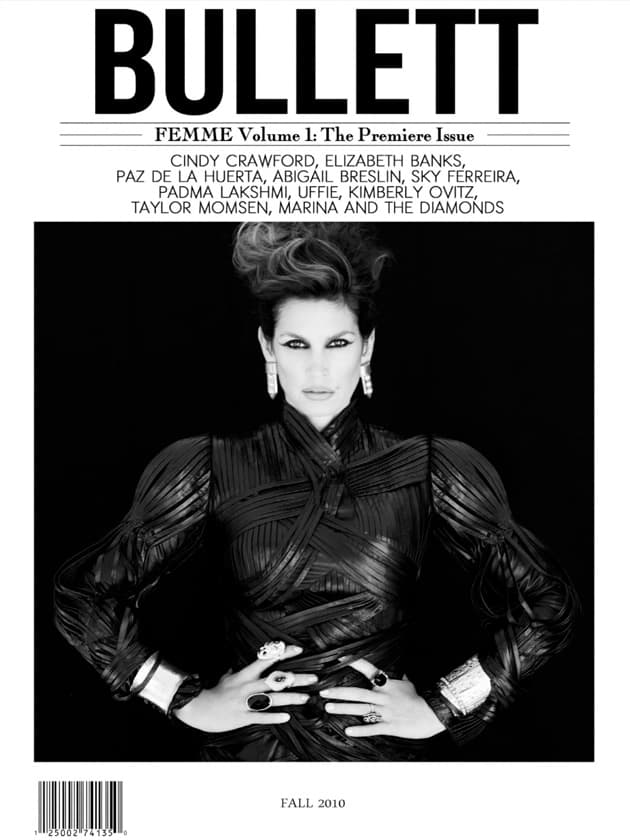 Cindy Crawford On Bullet Magazine Fall 2010 Cover wearing Hakaan