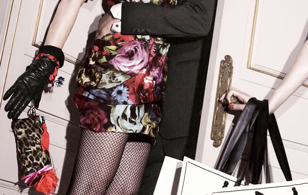 Lanvin For H&M Collection Preview Floral Print Dress and Handbag