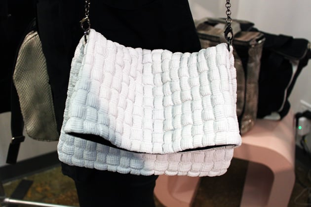 Sang A Spring 2011 Embroidered White Leather bag