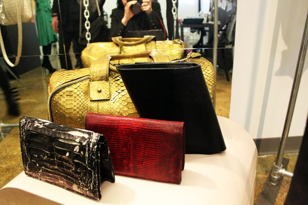 Sang A Spring 2011 Python Skin Clutches And Duffel Bag