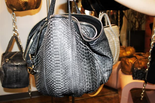 Sang A Spring 2011 Sculpted Brushed Python Leather Bag
