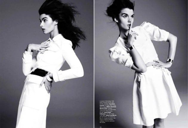 Harper's Bazaar December 2010 Skinny Crystal Renn