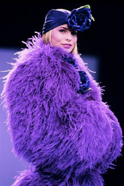 Anna Sui Purple Coat And Turban