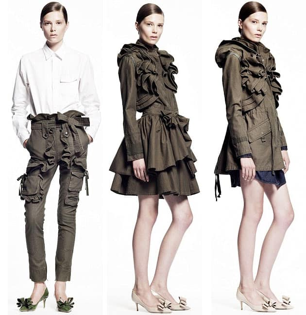 Gap X Valentino Collaboration Collection Look - Ruffle Coat