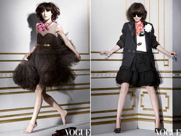 Lanvin For H&M Lookbook Starrng Irina Lazareanu