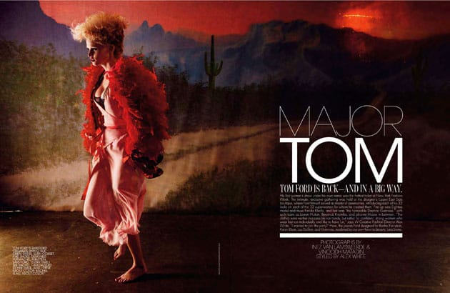 Lara Stone In Tom Ford Spring 2011 W Magazine Editorial
