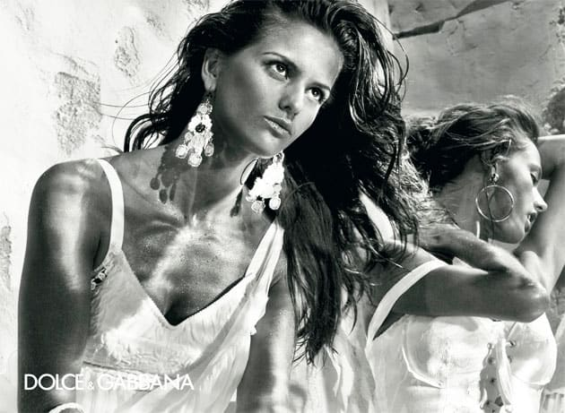 Alessandra Ambrosio And Izabel Goulart In Dolce & Gabbana Spring 2011 Ad Campaign