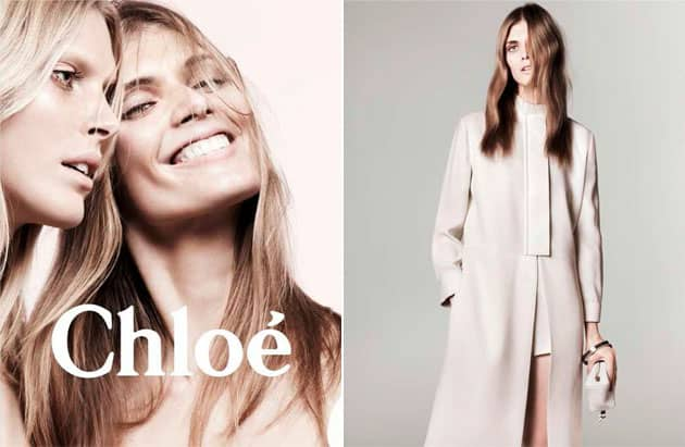 Iselin Steiro and Malgosia Bela In Chloe Spring 2011 Ad Campaign