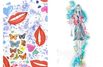 Iley Kishimoto And Matthew Williamson Sketch