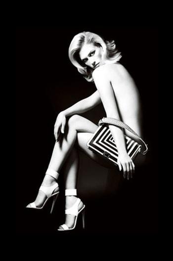 January Jones Versace Spring 2011 ad campaign