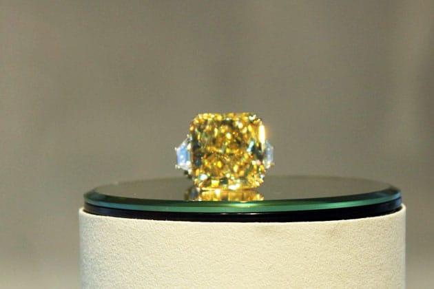 Sotheby's Magnificent Jewels Vivid Yellow Diamond