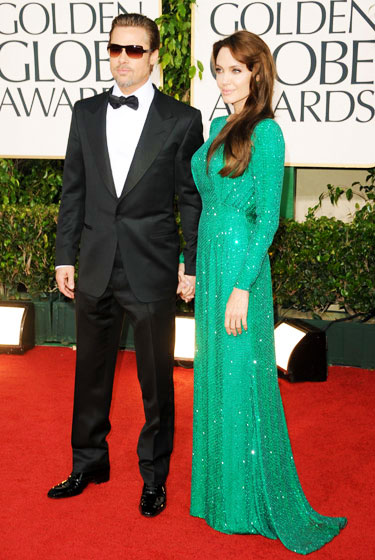 2011 Golden Globe Awards Angelina Jolie wears Atelier Versace dress