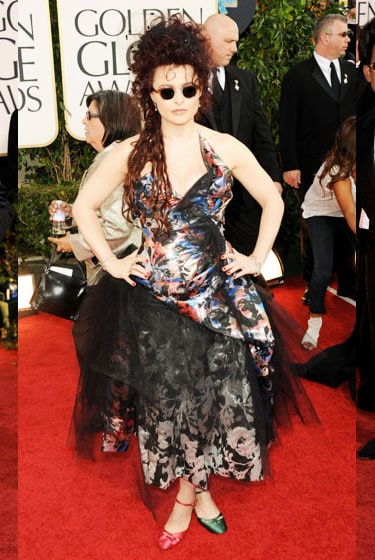 2011 Golden Globe Awards Helena Bonham Carter wears Vivienne Westwood dress