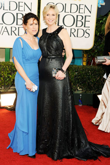 2011 Golden Globe Awards Jane Lynch wears Ali Rahimi dress