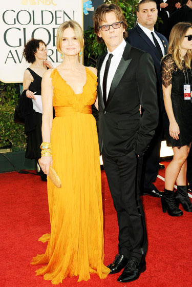2011 Golden Globe Awards Kyra Sedgwick wears Emilio Pucci dress