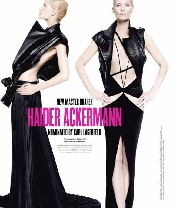 Haider Ackerman New Master Draper V Magazine Discovery Issue 69