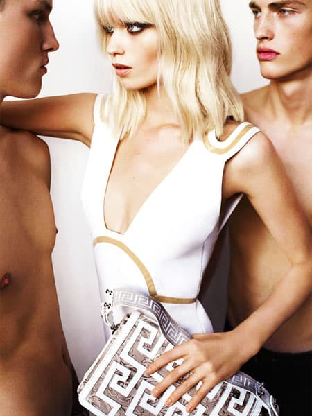 Abbey Lee Kershaw Versace Spring 2011 Campaign