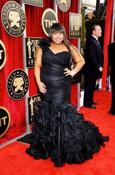 Amber Riley Anne Barge Dress 2011 SAG Awards