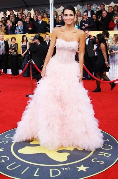Angie Harmon Monique Lhuillier Dress 2011 SAG Awards