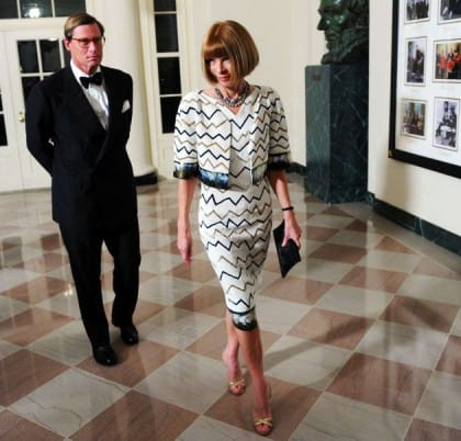 Anna Wintour Chanel Fall 2010 Haute Couture Dress China State Dinner