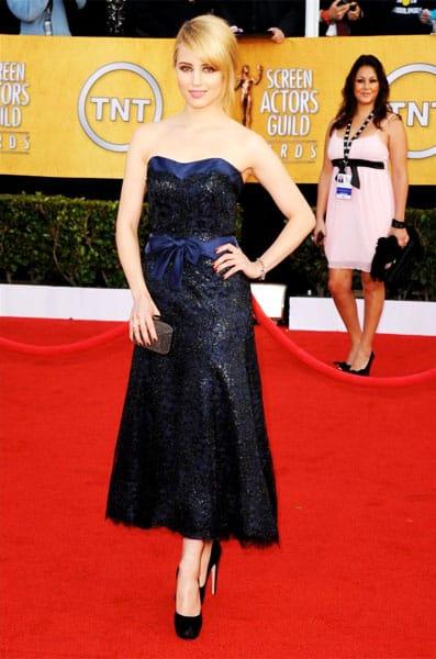 Dianna Agron Chanel Dress 2011 SAG Awards