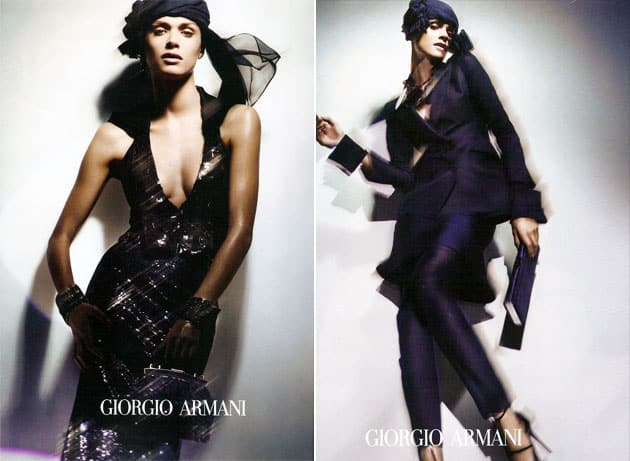 Giorgio Armani Spring 2011 Campagin Preview - Elisa Sednaoui In A Turban