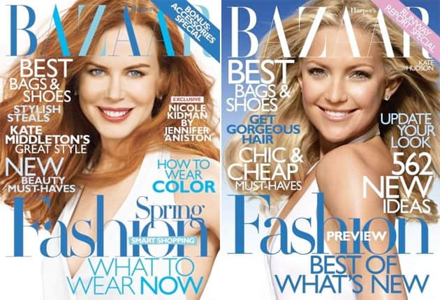 Harper's Bazaar Identical Covers - January 2010 And February 2011