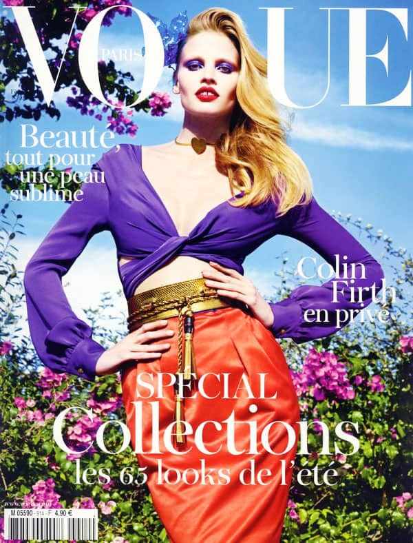 66f98942c Lara Stone Gucci Vogue Paris February 2011 Cover - FASHIONLOVER ...