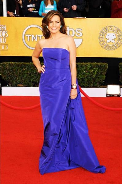 Mariska Hargitay Isaac Mizrahi Dress 2011 SAG Awards
