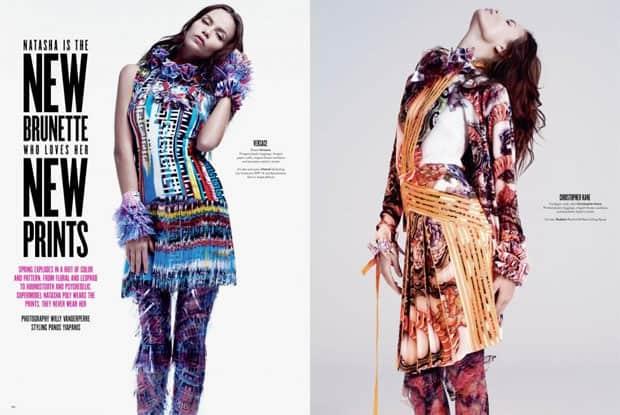 Natasha Poly Wears Colorful Prints V Magazine 69