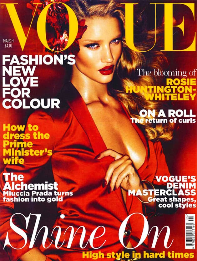 Rosie Huntington-Whiteley Vogue UK March 2011 Cover HQ
