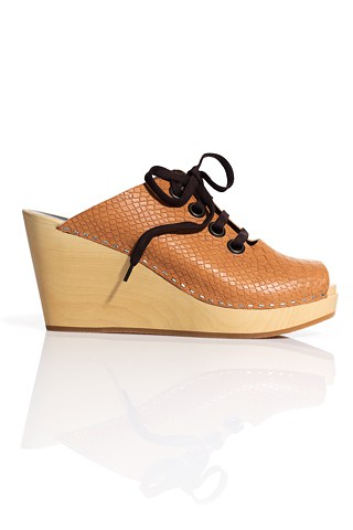 Swedish Hasbeens For H&M Collaboration Wooden-Sole Clogs