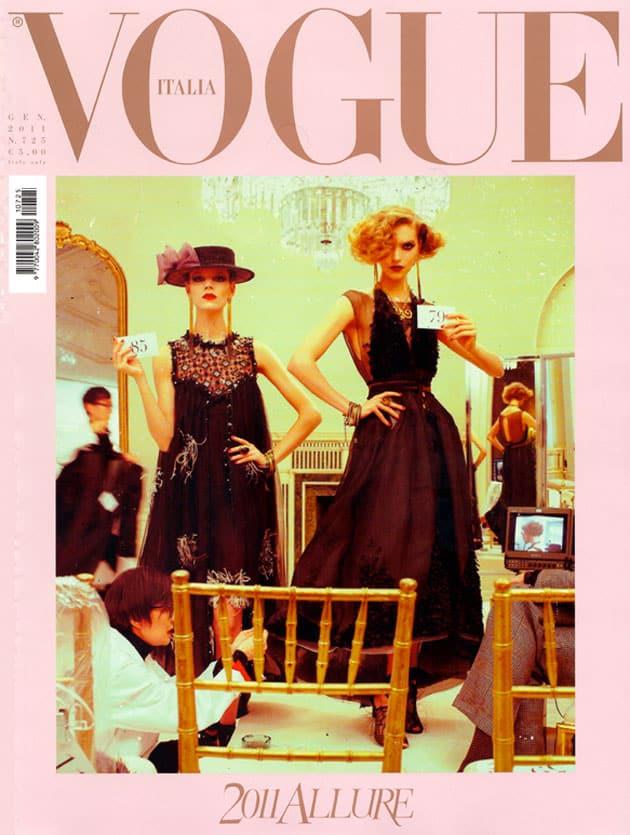 Freja Beha Erichsen and Arizona Muse - Vogue Italia January 2011 Cover