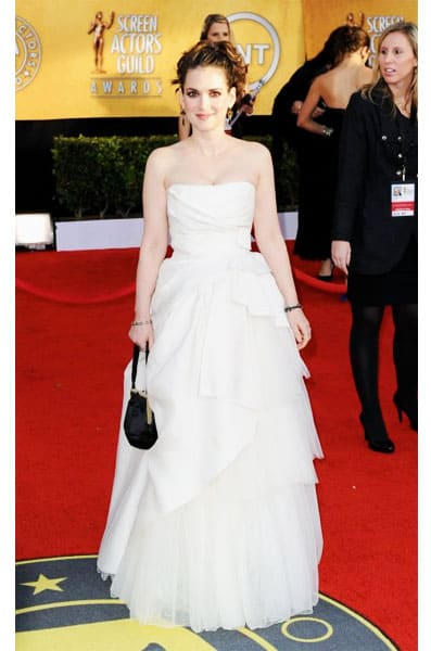 Winona Ryder Alberta Ferretti Dress 2011 SAG Awards