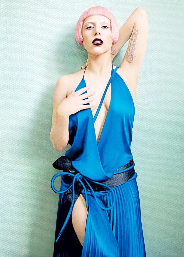 Lady Gaga Vogue March 2011 Editorial Haider Ackermann Dress