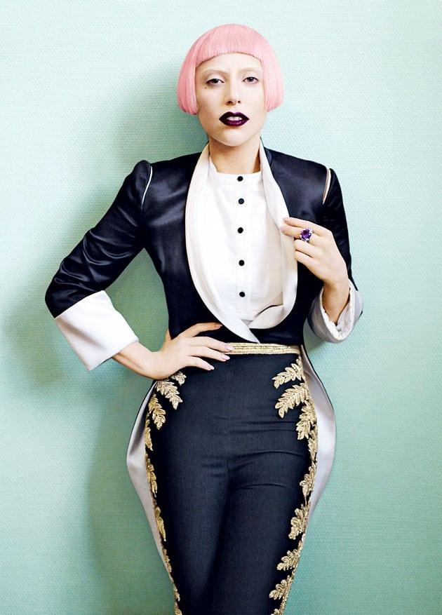Lady Gaga Vogue March 2011 Editorial Alexander McQueen Bodysuit