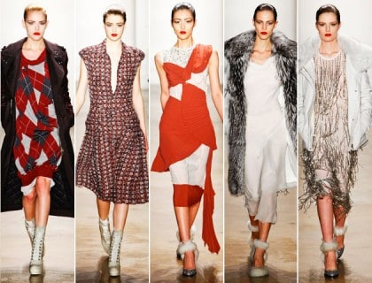 Altuzarra Fall 2011 Collection Grunge Argyle Patterns