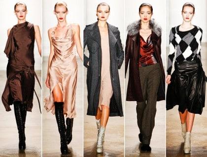 Altuzarra Fall 2011 Collection Grunge Bias Cut Dresses