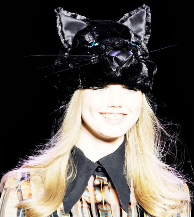 Anna Sui Fall 2011 Black Cat Hat