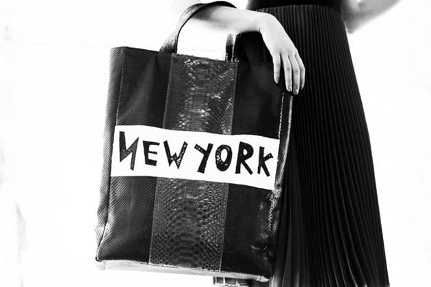 Catherine Malandrino Fall 2011 Accessories Paris New York Navy Python Tote