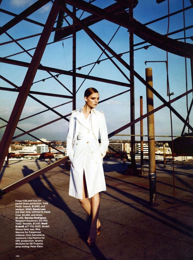 Harper's Bazaar March 2011 Editorial Derek Lam
