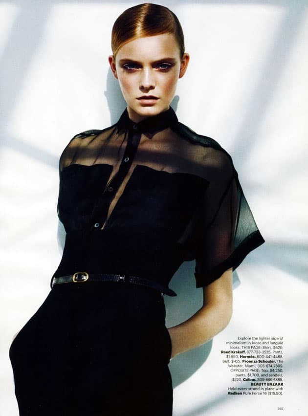 Harper's Bazaar March 2011 Editorial Reed Krakoff